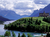 Biking in Waterton National Park Montana